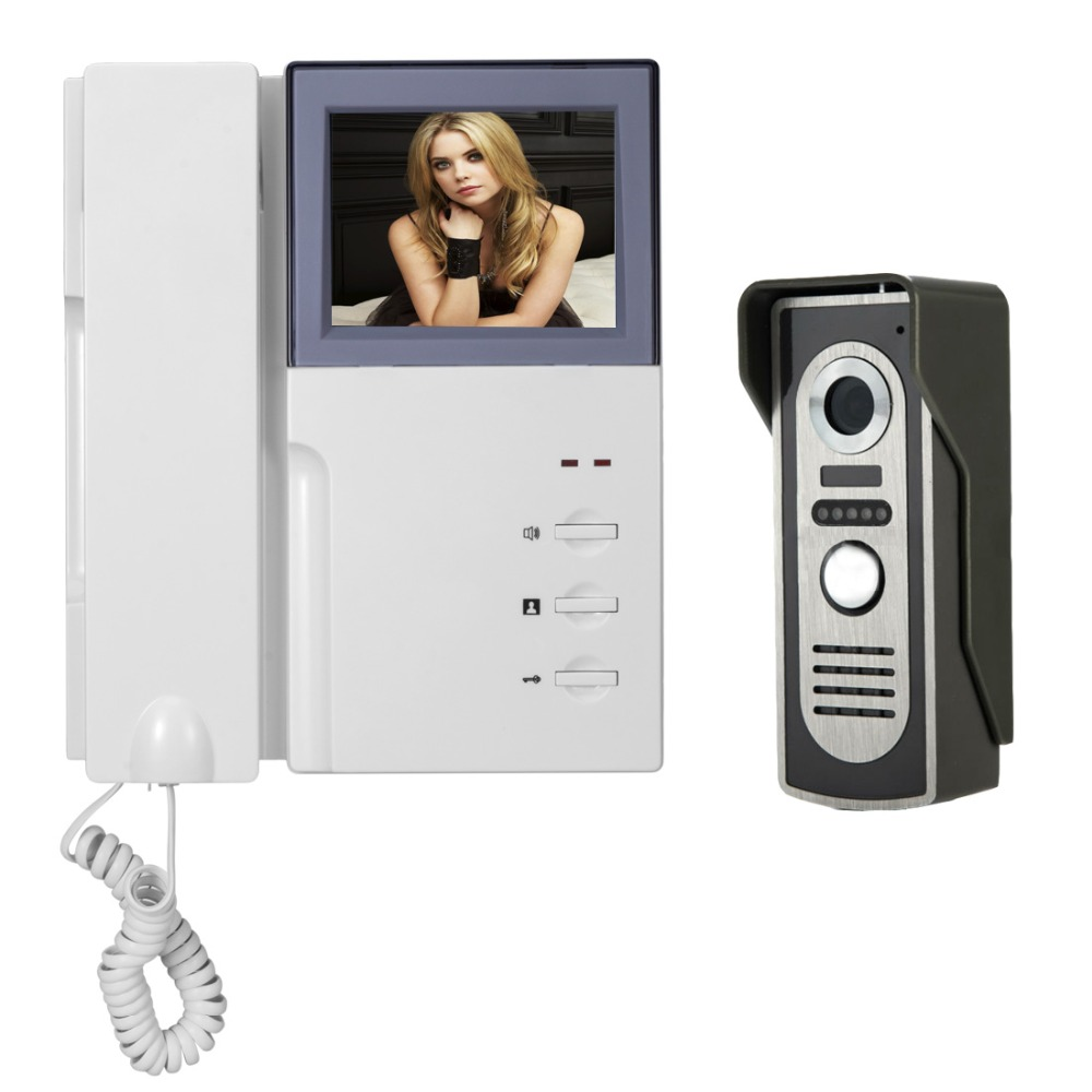 Intercom 4 3 39 39 TFT Color Wired Video Intercom Door Phone Doorbell System kit for home IR Night Vision Outdoor Camera Waterproof in Video Intercom from Security amp Protection