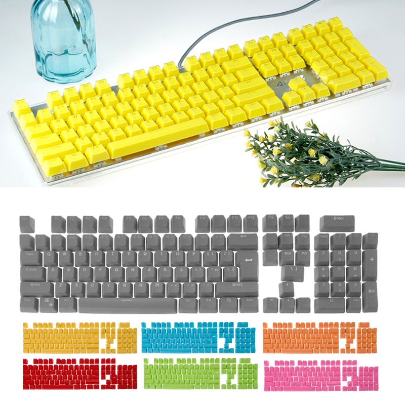 104 key Doubleshot Translucent Keycaps Backlit Light for Cherry MX Mechanical Keyboard
