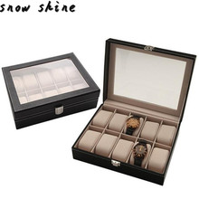 snowshine 3001 Portable Travel Watch Case Roll 10 Slot Wristwatch Box Storage Travel Pouch free
