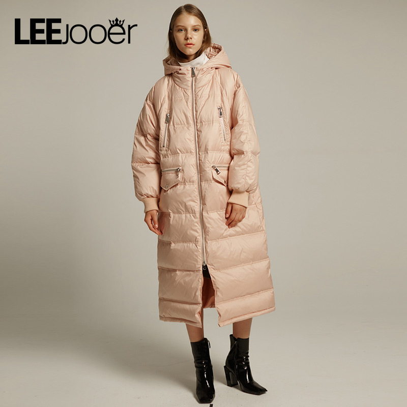 LEEJOOER 2017 Winter Women's Jacket Coat Fashion High Street Bread Coats Warm Women Parkas Thickening Cotton Padded Jackets