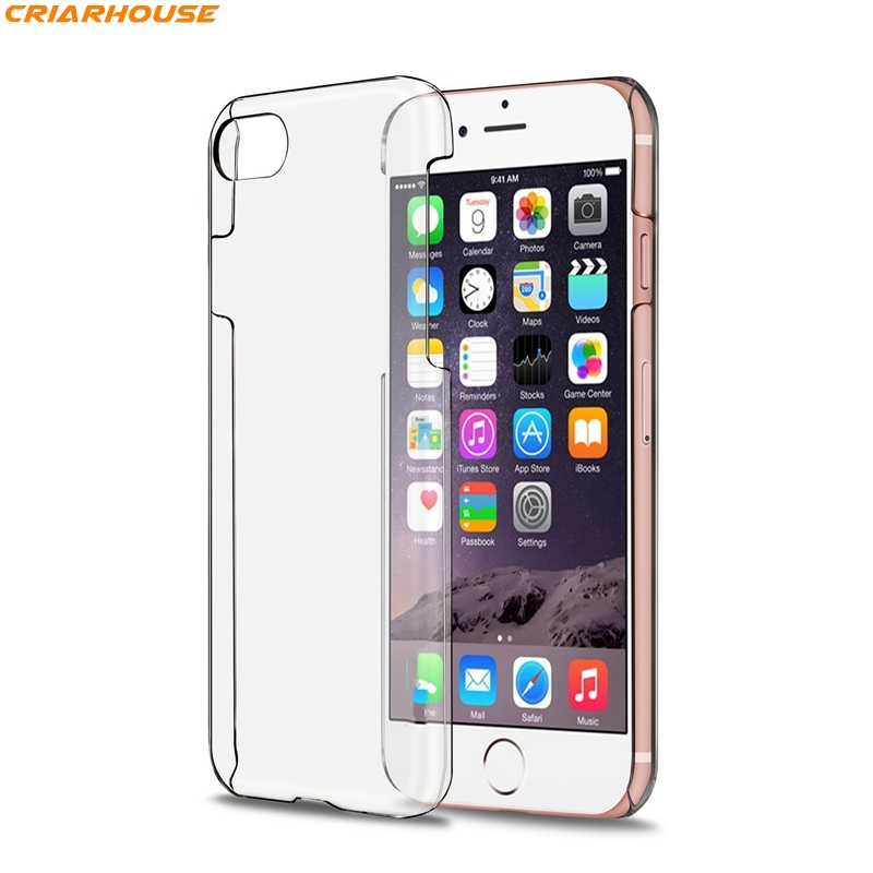 timeless design fd2e5 3f368 Hard Clear Plastic Phone Apple Iphone 8 4 4S 5 5S SE 6 6S 7 Plus Back Cover  Crystal Transparent PC Bags
