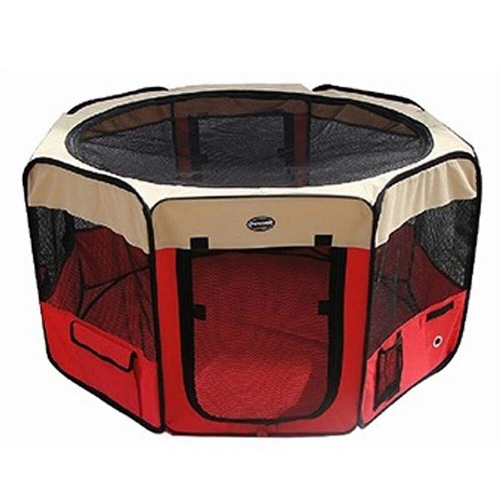 Składany dom dla zwierząt namiot z bardzo duża przestrzeń wodoodporna ćwiczeń dom Kennel namiot łóżko dla zwierząt domowych Puppy psy koty w Domki, budy i kojce od Dom i ogród na  Grupa 3