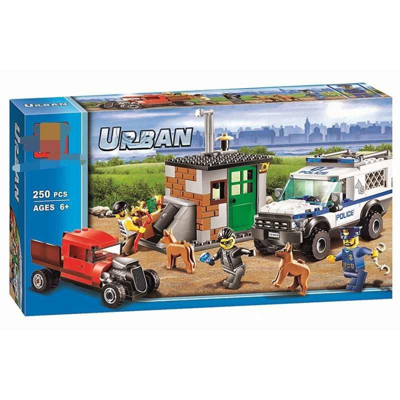 Unidade Cão policial Modelo Blocos de Construção Compatível com Lego 60045 Cidade Tijolos Figura Set Brinquedos Educativos Para Crianças