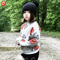1-5y 2016 Autumn Children's Girls Sweater Fashion Toddler Bat Cardigan For Baby Boys Christmas Clothes Long Sleeve Outwear