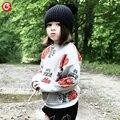 1-5y 2016 Outono das Crianças Meninas Moda Camisola Bat Cardigan Para O Bebê Meninos Da Criança Roupa Do Natal de Manga Longa Outwear