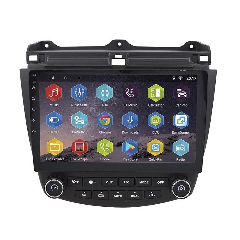 Android 7.0.0 GPS Navigation 10.1 Pouce pour Honda Accord 7 2003-2007 Voiture Radio Avec 1080 P Vidéo Bluetooth soutien