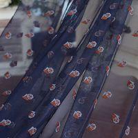 Frete grátis width133cm Canglan Vintage bordado laço de tecido de ouro, Vestido de casamento vestido de noiva