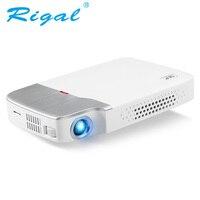 Rigal RD605 DLP мини проектор Android 5,1 (опционально) Wi Fi Bluetooth 4,0 Батарея HDMI Active 3D видео светодио дный проектор 2500 люмен