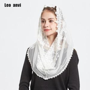 Image 5 - LEO Anvi Ren Vô Cực Khăn Choàng Nữ Trắng Ngà Mantilla Công Giáo Truyền Thống Nhà Nguyện Vân Hijab Khăn Quàng Cổ Và Đeo Hồi Giáo Hijab