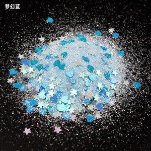 Image 5 - 50/10Grams Glitter Holographic Star Glitter Large Hair Eye Face Body Glitter Makeup