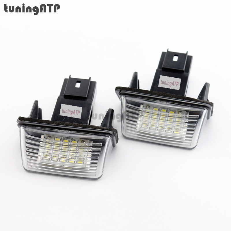 2x Bright White SMD <font><b>LED</b></font> License Plate <font><b>Lights</b></font> Module For <font><b>Peugeot</b></font> 206 / 207 / 306 SW / <font><b>307</b></font> Sedan / <font><b>307</b></font> SW / 5008 I image