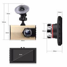 """Vehemo 3 """"HD 1080 P видеорегистратор автомобильный приборной панели Камера видео Регистраторы g-сенсор Крушение Cam"""