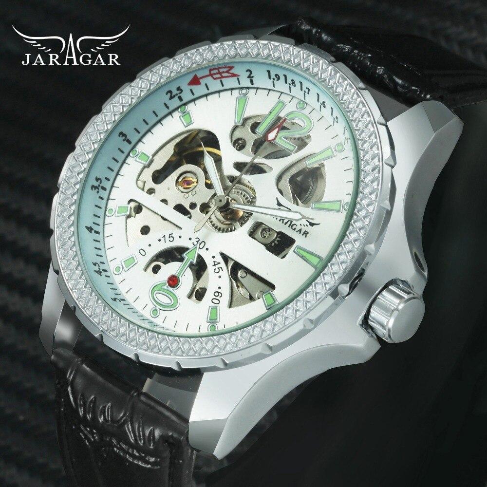 Helpful Jaragar Luxury Brand Wrist Watch Sport Men Genuine Leather Tourbillion Mechanical Watches Cool Dress Watch Gift For Male +box Men's Watches Watches