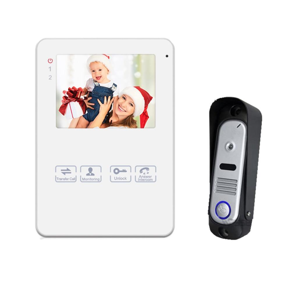 Homefong4Wire 4 дюймов видео-телефон двери разблокировать дверной Звонок домофона Системы с фото/видео записи Функция 800TVL мониторинга ...