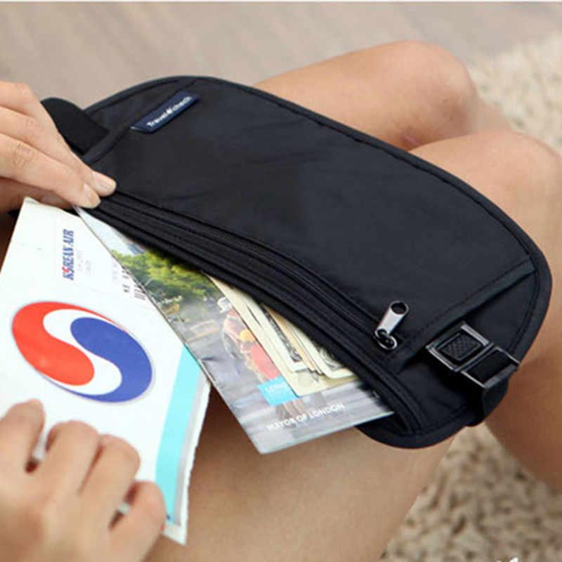 布トラベルポーチ隠し財布パスポートマネーウエストベルトバッグスリム秘密セキュリティ便利なトラベルバッグ