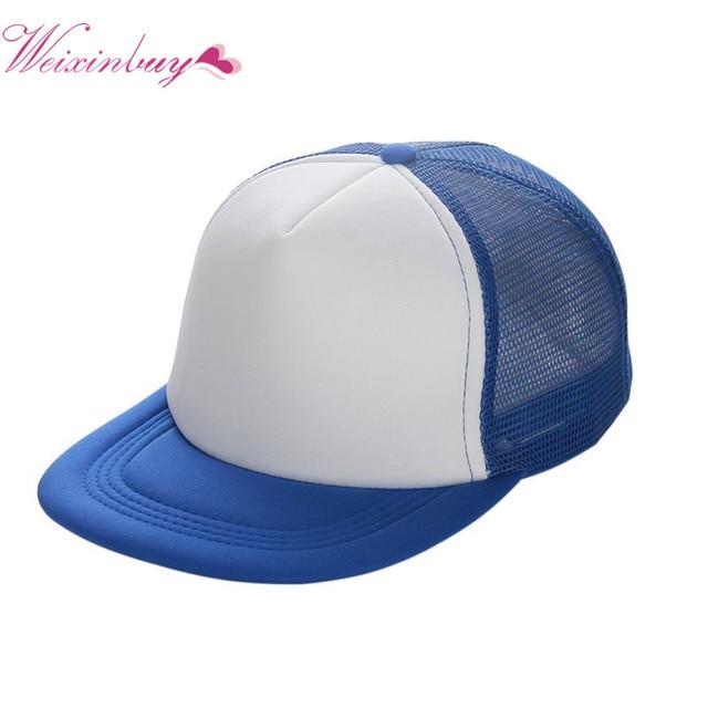 Plat Bord Blanc Plaine Casquette de baseball Hip Hop Femmes Hommes Maille Snapback Strapback Casquettes Os Noir Bleu Gris Vert Blanc Rouge