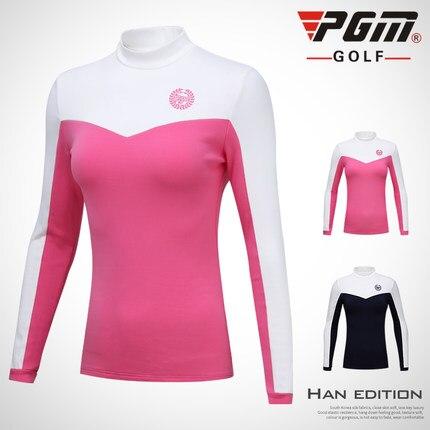 Femme automne hiver Golf cachemire chemises à manches longues Golf T Shirt respirant sport vêtements femmes polos haut spandex chemise