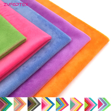 ZYFMPTEX 45x50cm 5Pcs/Lot 100 Polyester Fabric 1.5mm Pile Minky Plush Fabric For DIY Sewing Patchwork High Quality Free Shipping