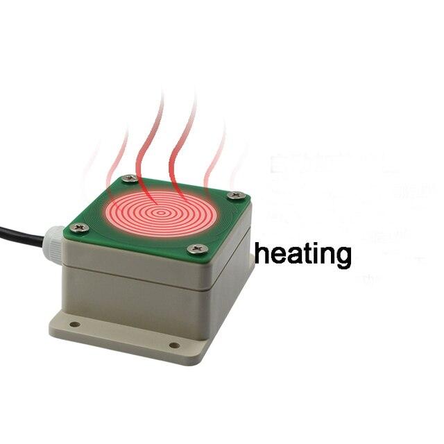 Sensor transmisor de lluvia y nieve de 10 ~ 30VDC, tipo de sensor de detección de lluvia, normalmente abierto IP68 con calefacción, envío gratis