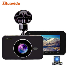 Bluavido Full HD 1296P Car DVR Camera ADAS WDR Night Vision 3 Inch Dual Lens Dash cam Video Recorder Cycle Recording Blackbox