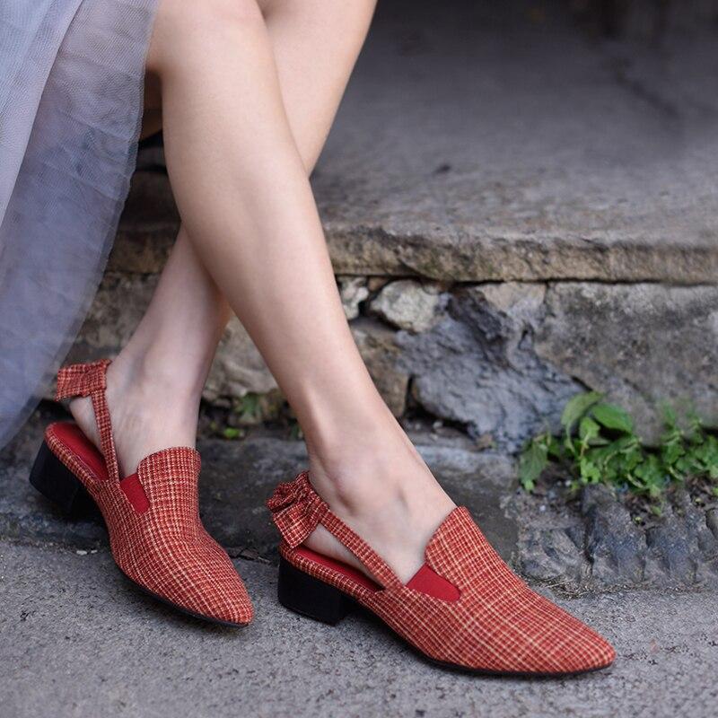 Véritable Zapatos Pointu Femmes La Chaussures White Sandales Cuir Mujer Mode En 2018 À Bout Main Diapositives Artmu Black red De qzSZfwcO