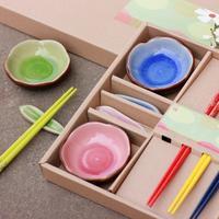 Ceramic tableware creative tableware set wedding gifts Chinese sushi set dinnerware dishware dish colorful dishes
