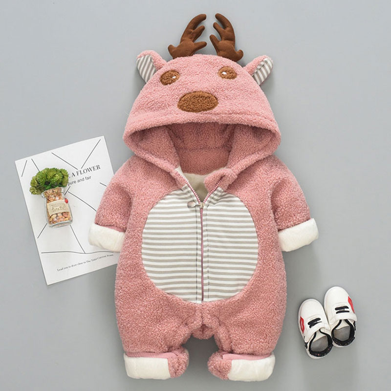 -30 Winter baby girls clothes sets for newborn infant baby boys girls fleece warm jacket Coveralls rompers coats clothing sets 0 12m baby rompers winter warm fleece clothing set for boys cartoon monkey infant girls clothes newborn overalls baby jumpsuit