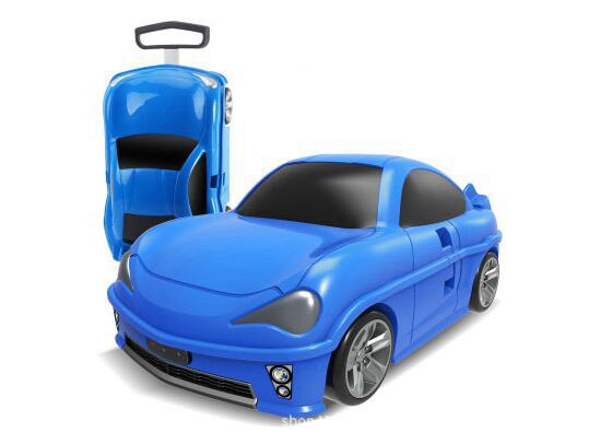 все цены на Kids Rolling luggage suitcase racing car Travel Luggage Children Travel Trolley Suitcase for boys wheeled suitcase for kids