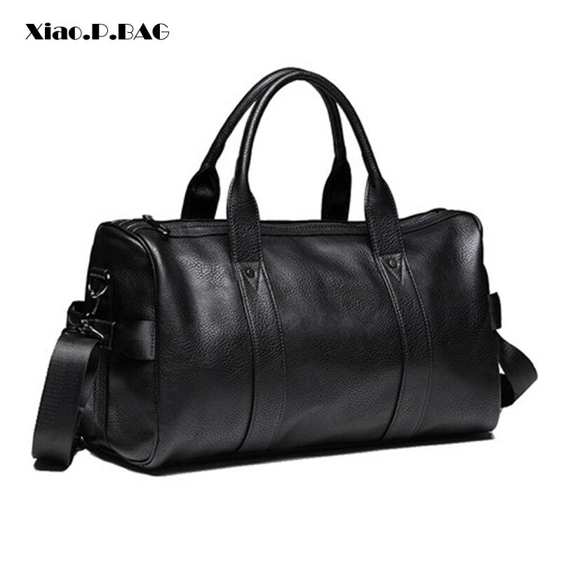 ยี่ห้อผลิตผู้ชายกระเป๋าถือแฟชั่นแนวโน้ม Minimalist ขนาดใหญ่ความจุกระเป๋ายิม Duffle กระเป๋าไหล่เดี่ยว-ใน กระเป๋าเดินทาง จาก สัมภาระและกระเป๋า บน AliExpress - 11.11_สิบเอ็ด สิบเอ็ดวันคนโสด 1