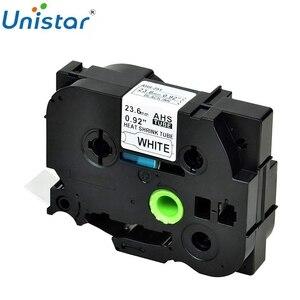 1PK совместимый для Brother HSe-251 HSe651 HS-251 черный на белом термоусадочная трубка этикетка лента используется в PT-D600 E500VP 0,92 ''23,6 мм