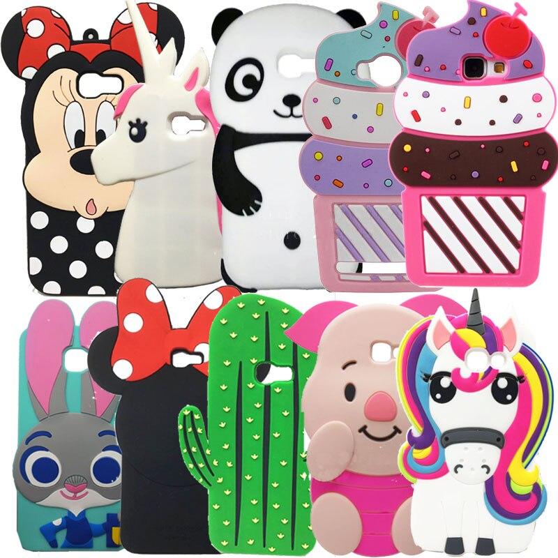 Galleria fotografica 3D Cute Cartoon Unicorn Stitch Silicone Case Coque For Samsung Galaxy A5 2017 a520 ice Cream Phone Cover For Galaxy A3 2017 case