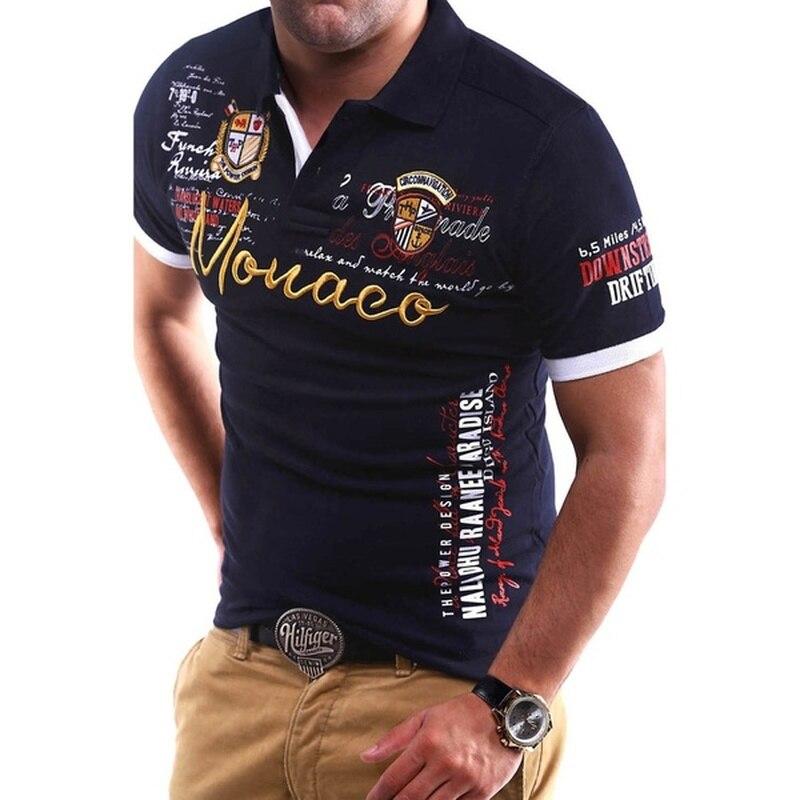 Zogaa Fashion Brand New Men's   Polo   Shirt Slim Fit Shirt Short Sleeve   Polo   Shirt Men Turn Down Collar Casual Printed Men   Polo