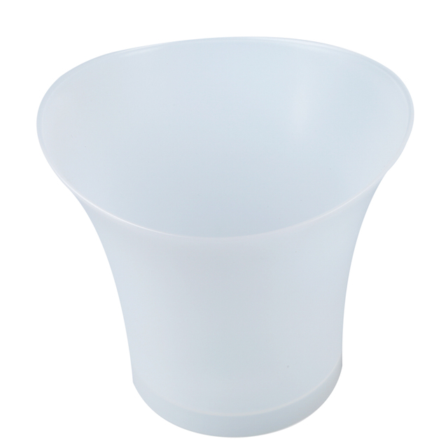 5L Volume Plastic Led Ice Bucket Color Changing Bars Nightclubs LED Light Up Ice Bucket Champagne Beer Bucket (white)