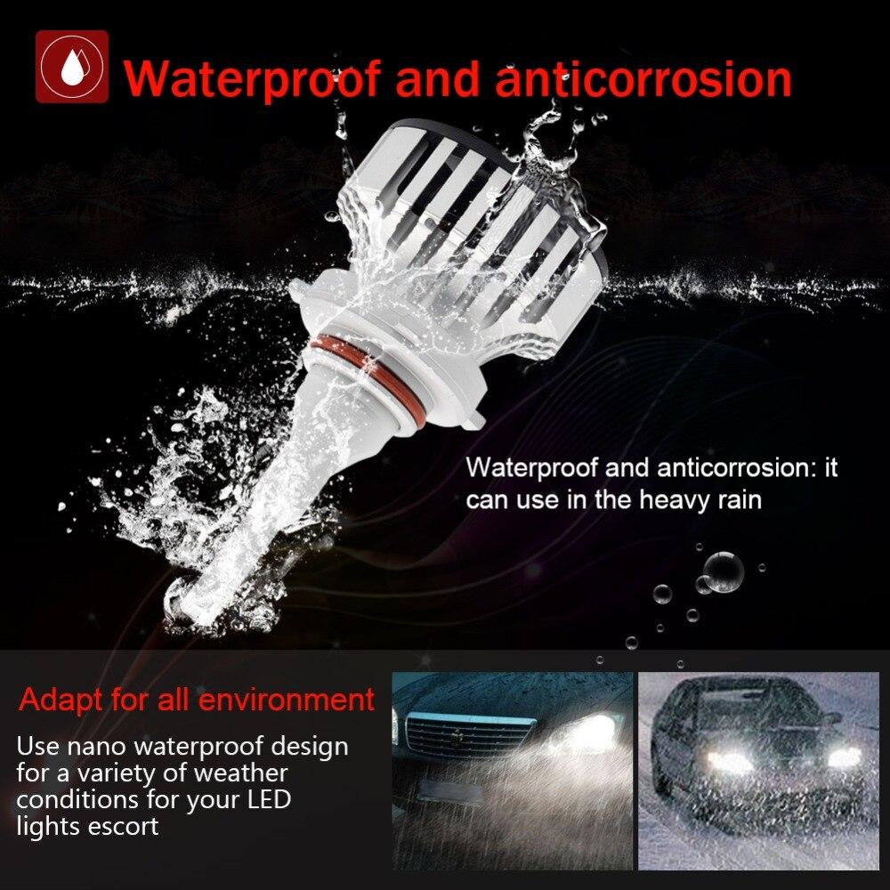 Safego 36 W 9005 H7 H4 Salut/Lo H8 H9 H11 9006 Voiture phare LED Kit Ampoules 4 LED très brillante Puces 6000Lm Auto Ampoule Blanc 6000 K - 3