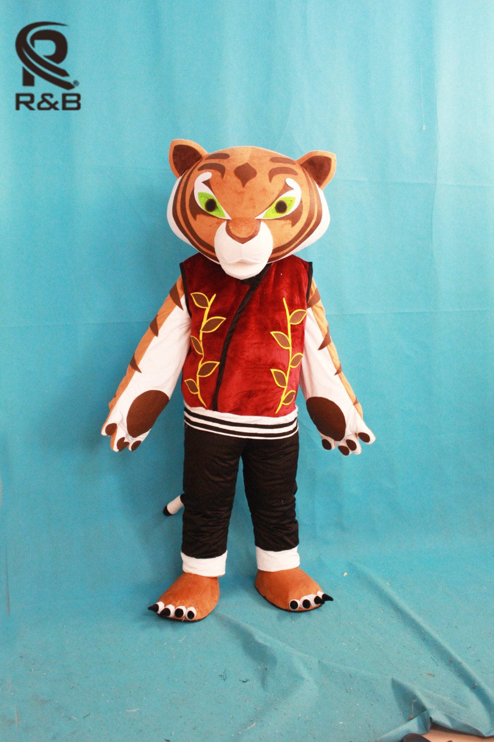 High Quality Tigress Tiger Mascot Costume Kung Fu Panda Cartoon Mascot Adult Costume Halloween Carnival Party Costume