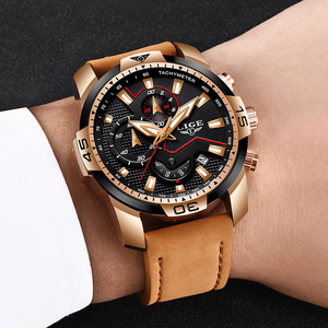 Image 2 - 2019 New LIGE Mens Watches Top Brand Luxury Men Casual Leather Quartz Clock Male Sport Waterproof Watch Relogio Masculino