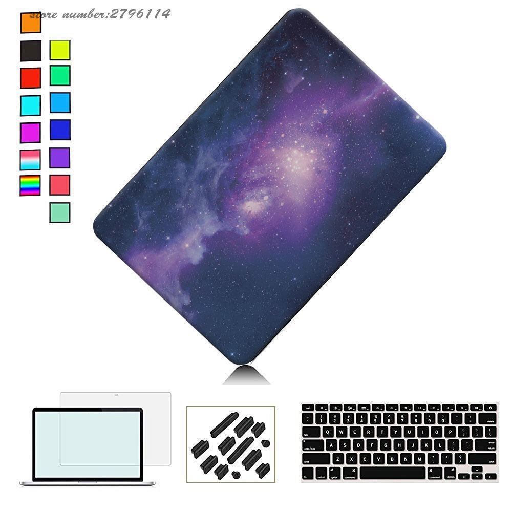 Galaxy Graphic Rubberized Hard Case For Macbook Pro 13 15 inch Model A1706 A1708 A1278 A1286 Matte Frosted Laptop Bag Cases