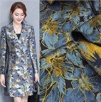 big gold silk yarn dyed jacquard winter and spring windbreaker jacket, cheongsam clothing, fashion cloth2017071679
