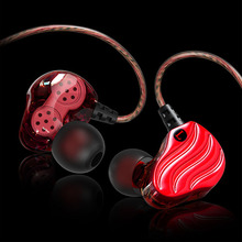 Sport running headphones Double moving ring headset four unit in-ear with wheat earphone anchor HIFI mobile phone