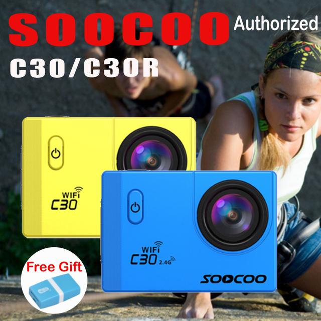 Soocoo c30/c30r ação esporte câmera à prova d' água ntk96660 20mp 4 K Wifi 1080 P/60FPS Ir HD Subaquática Bicicleta Ao Ar Livre pro Câmera Cam