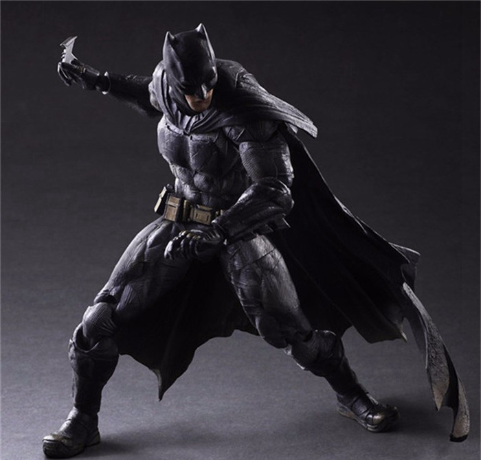 Play Arts Kai Batman Action FiguresDawn of Justice PVC Toys 27CM Anime Movie Model Heavily armored Bat Man Playarts Kai цена