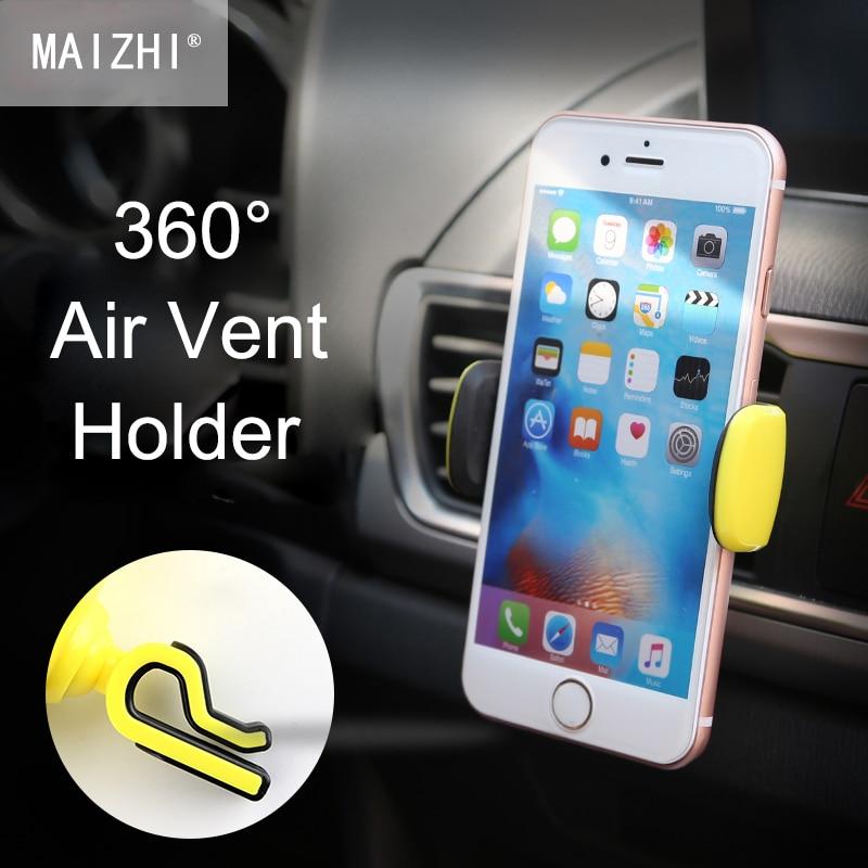 360 градусов поворотной автомобильный держатель телефона <font><b>Air</b></font> <font><b>Vent</b></font> подставка держатель для мобильного телефона для iPhone Samsung Xiaomi HTC GPS универсальн&#8230;