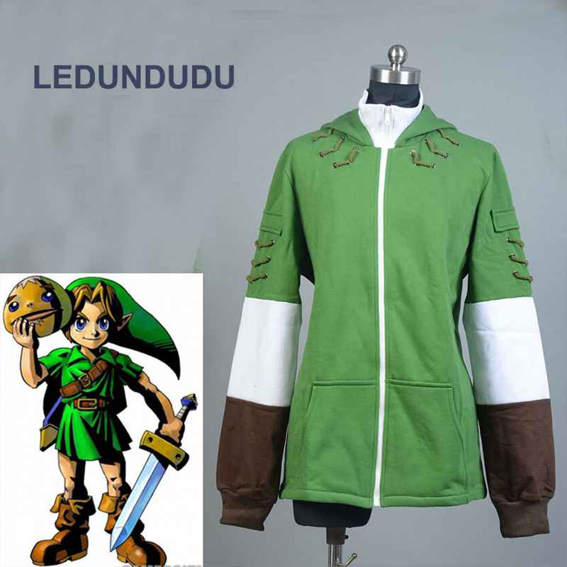 The Legend of Zelda Link Hoodie Men Zipper Coat Jacket Fairy Wizard Hoody Sweatershirts Cosplay Costumes For Spring Autumn