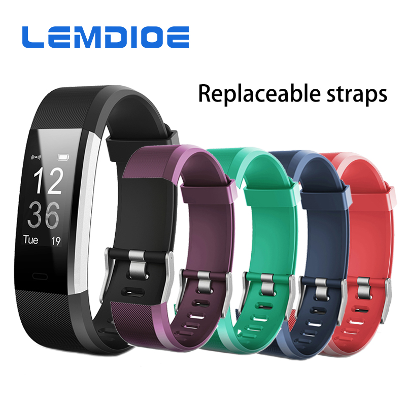 LEMDIOE Colorful Silicone Wristband Replacement Watchbands Wrist Strap Belt for Original ID115HR PLUS Smart Band wristwatch band
