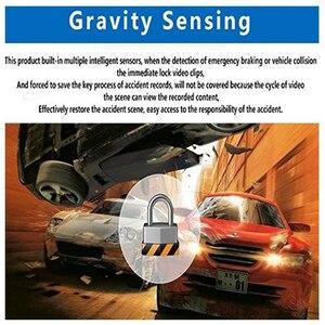 Image 5 - Kollision Sensor WIFI DVR Recorder Kamera Video Auto Unterstützung Mikrofon Auto DVR Kamera Spiegel 170 Grad Fahren Recorder Kamera