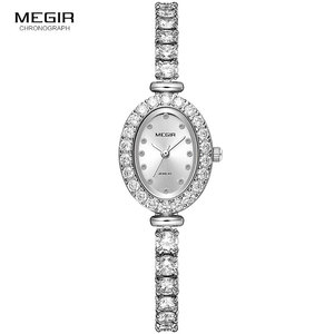 Image 2 - Megir 女性の時計ファッション 2018 新シンプルなアナログ高級腕時計女性 Relogios Femininos 時計 4206 白