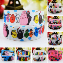 7/8'' (22mm) Barbapapa Cartoon Character printed Grosgrain Ribbon party decoration satin ribbons OEM 10 Yards 7 8 22mm owl cartoon character printed grosgrain ribbon party decoration satin ribbons oem 10 yards