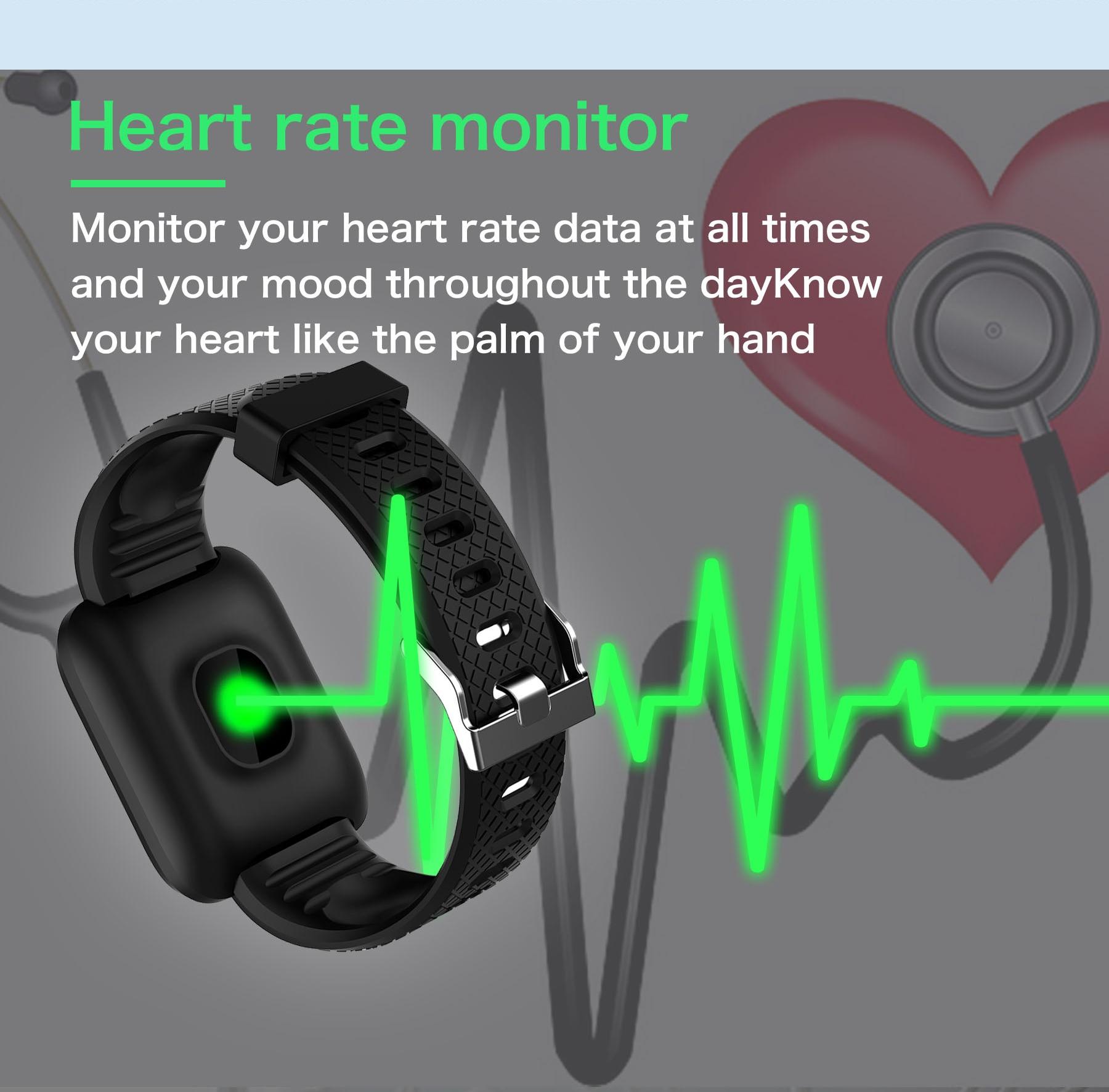 HTB1hQNpRrPpK1RjSZFFq6y5PpXai Doolnng Smart band wristband Sport fitness Tracker bracelet Heart Rate Monitor blood Pressure measurement Smartband Watch