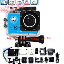 100% Original 4K MLLSE go pro hero Sport Action Camera 2.0 LCD 30M Waterproof 4K WiFi go pro Sport camera extreme Diving helmet