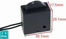 1 pces elétrica ferramenta elétrica de plástico interruptor controlador velocidade FA 8/1fe 5e4 6 posições cor aleatoriamente